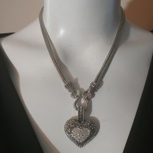 "Lisa Sophia ""Love Dust"" Cut Crystal ❤ Necklace"